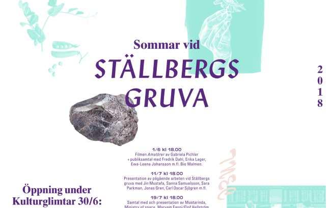 Stallbergs gruva programaffisch 2018